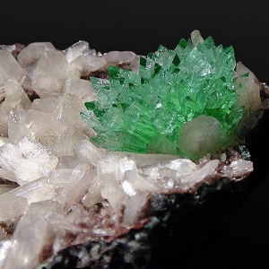 Green Apophyllite with Stilbite