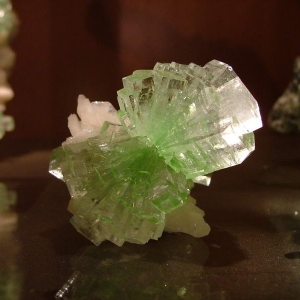 Flat Terminated Green Apophyllite with Stilbite